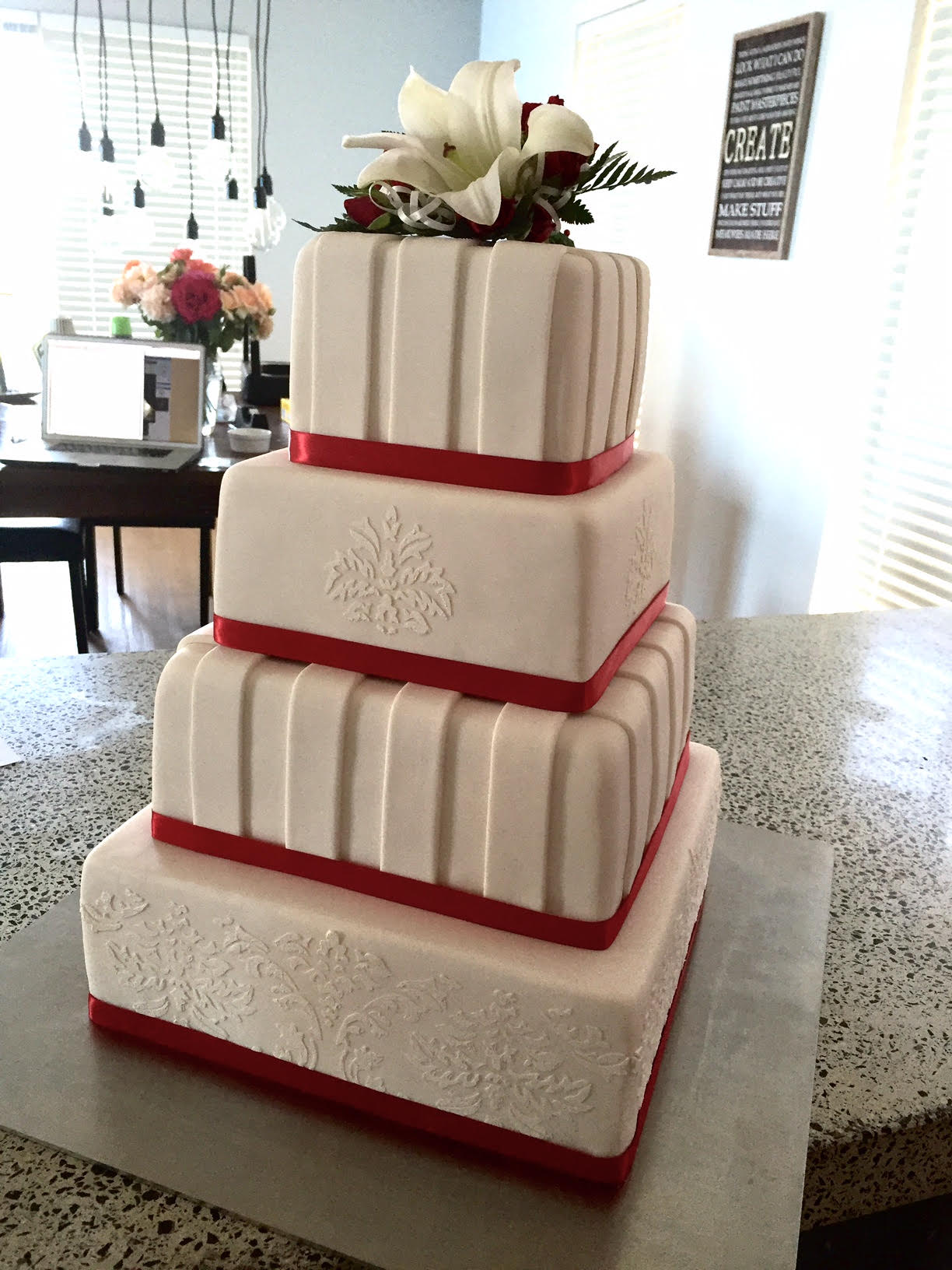The Square Wedding Cake Stand Perfect Straight By Cake Stackers