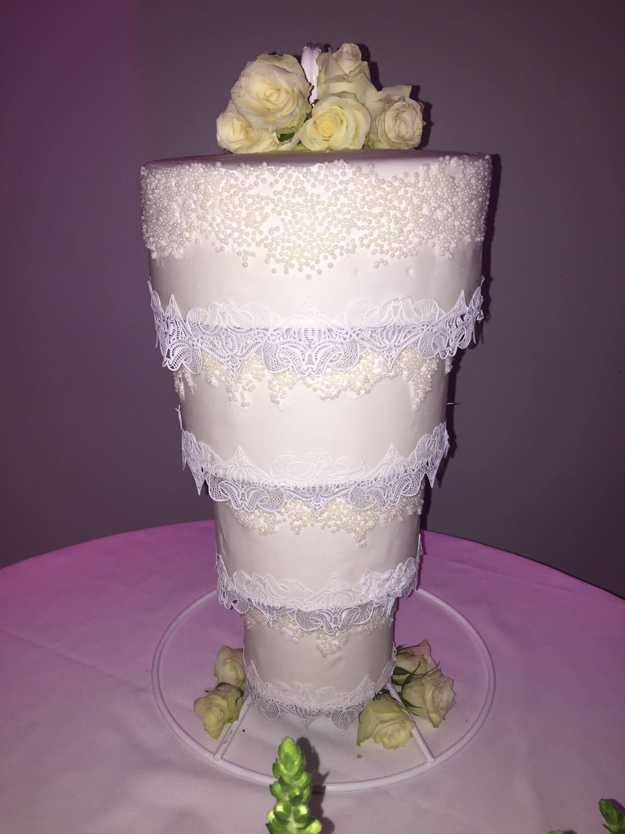Tiered wedding cake stands by cake stackers for How to make a cake stand
