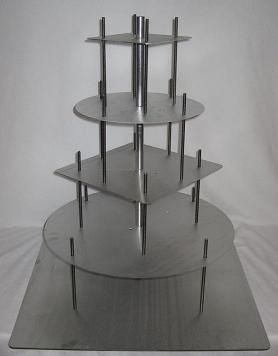 square wedding cake stands image