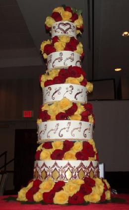 tall wedding cake image