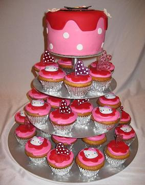 tiered cupcake stand image